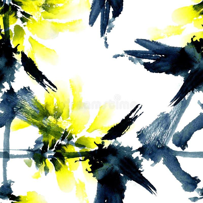 Kolor żółty kwiaty ilustracja wektor