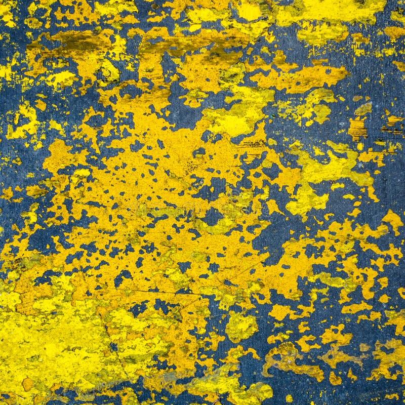 Kolor żółty malująca cementowa podłogowa tekstura zdjęcia stock