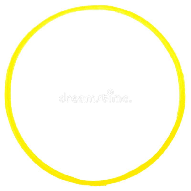 Kolor żółty malujący pierścionek ilustracji