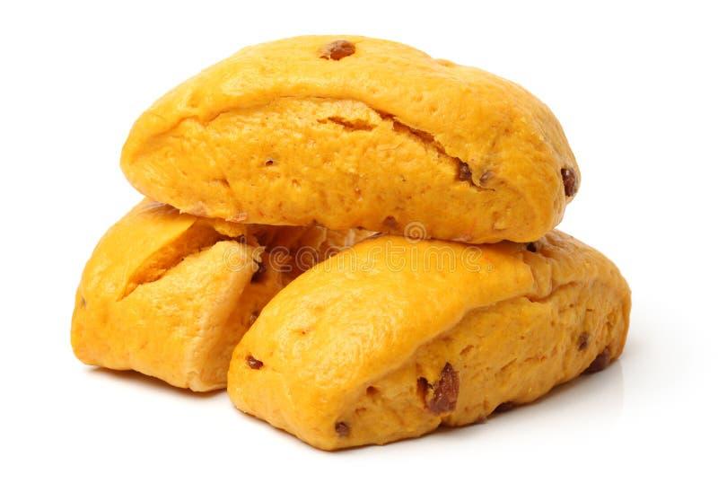 Kolor żółty odparowane babeczki dla Chińskiego jarosza Organicznie, smakosz zdjęcia stock