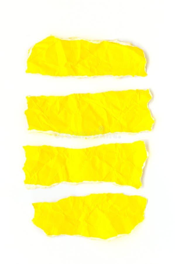 Kolor żółty papiery. obrazy stock