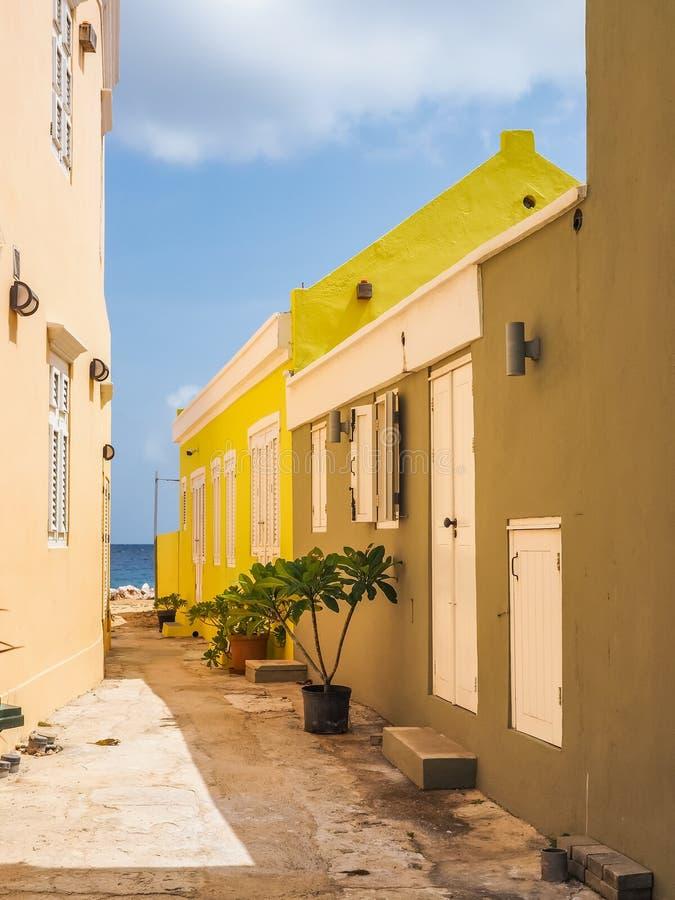 Kolor żółty - Petermaai Curacao Gromadzcy widoki zdjęcia royalty free