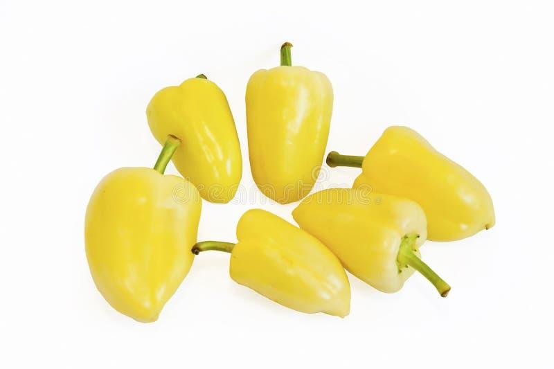 Kolor żółty pieprze obrazy royalty free