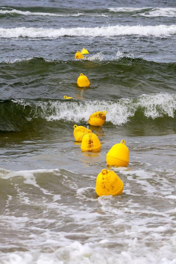Kolor żółty pociesza na powierzchni morze bałtyckie zdjęcia royalty free