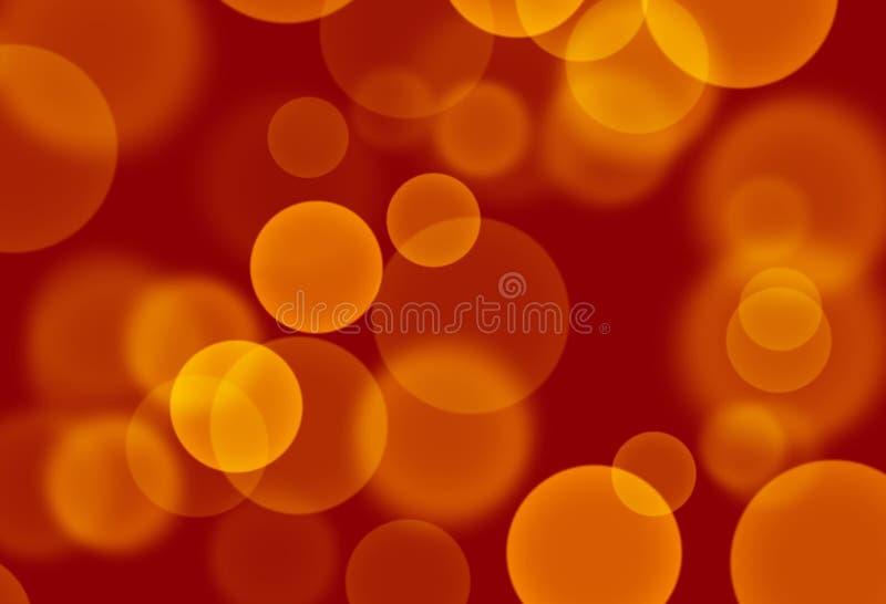 Kolor żółty - pomarańcze okręgi na czerwonej tło tapecie royalty ilustracja