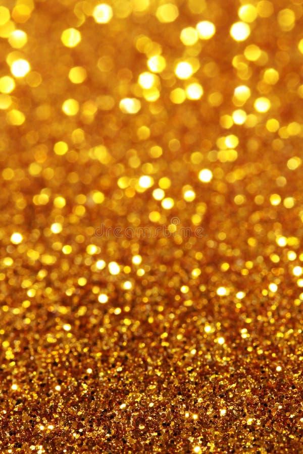 Kolor żółty, pomarańcze, złocisty miękkich świateł tło - vertical obrazy stock