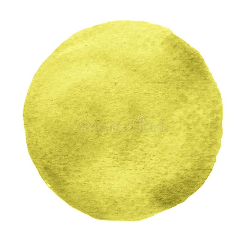 Kolor żółty, pomarańczowy okrąg malował z akwarelą na białym tle ilustracji