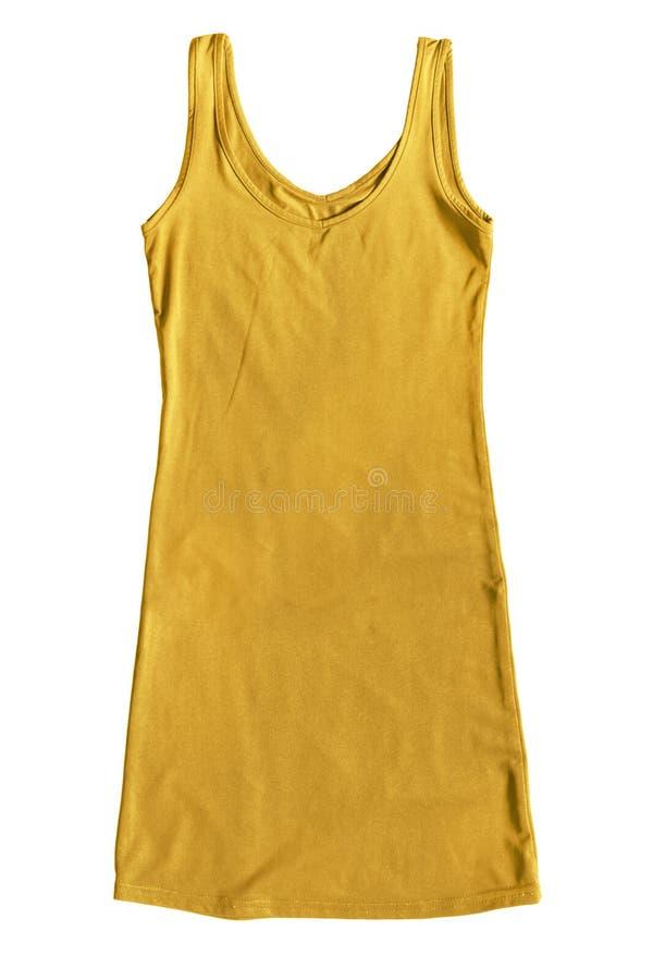 Kolor żółty suknia odizolowywająca zdjęcie royalty free