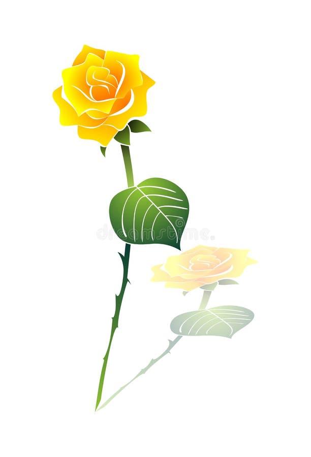 Kolor żółty wzrastał obrazy royalty free