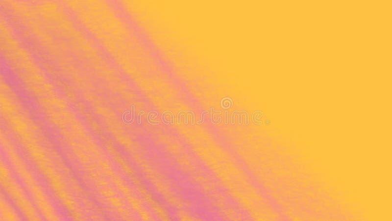 Kolor żółty z różowym abstrakcjonistycznym tłem menchia lampasy na żółtym tle Jaskrawi naszli kolory ilustracji