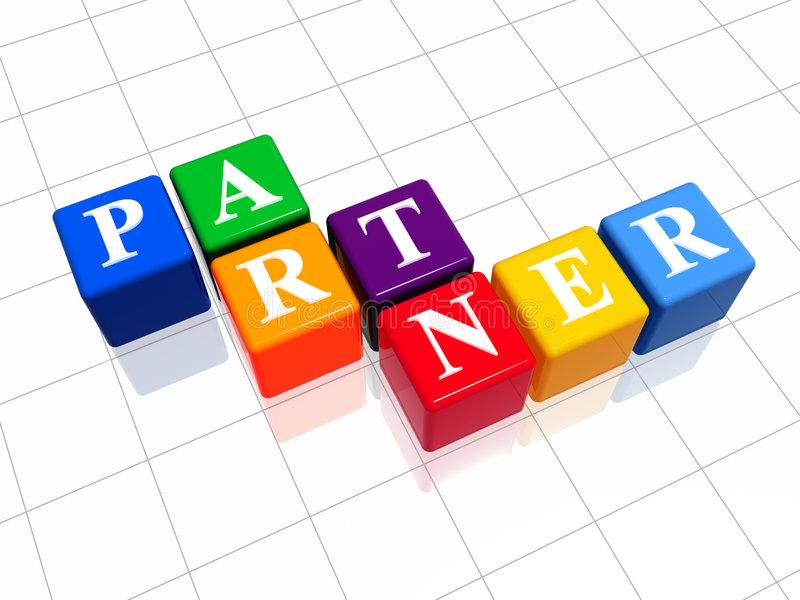 kolor 2 partnera ilustracja wektor