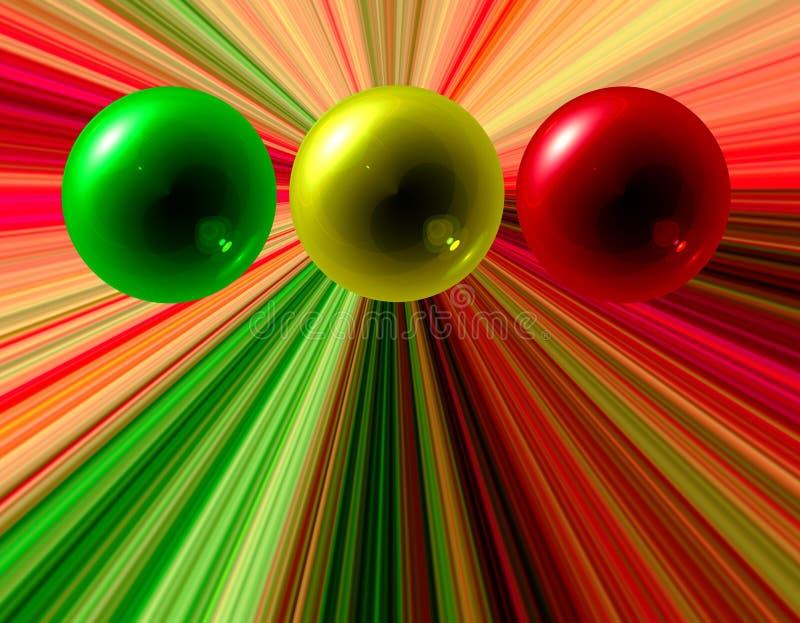 kolor abstrakcjonistyczne sfery ilustracja wektor
