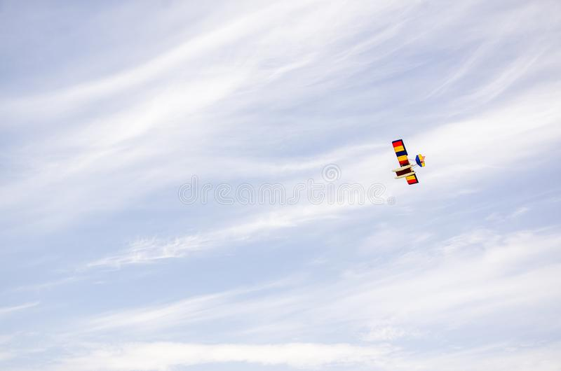 Kolor bawi się samolot fotografia royalty free