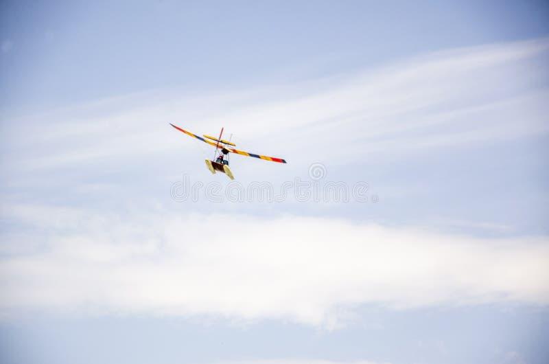 Kolor bawi się samolot obrazy royalty free