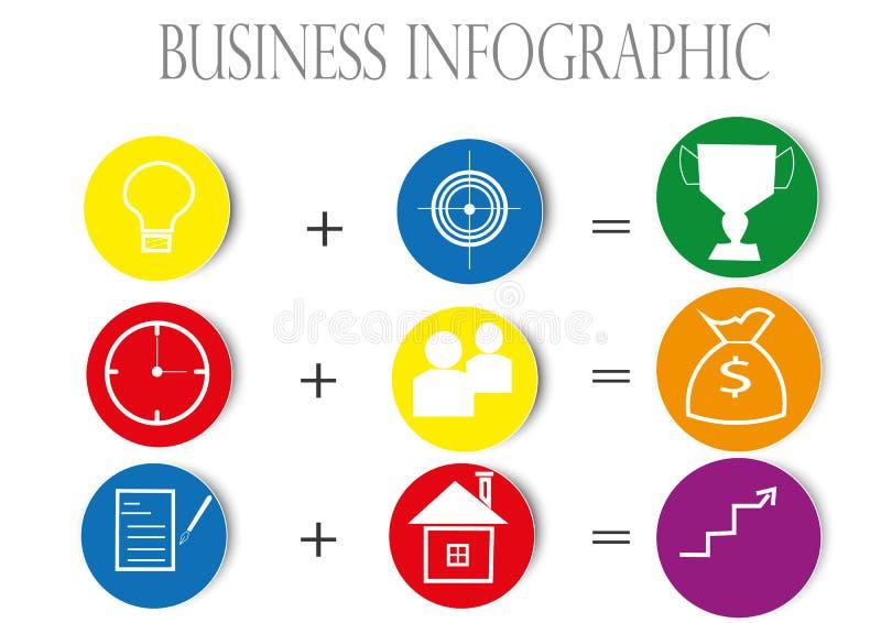 Kolor biznesowa grafika obraz stock
