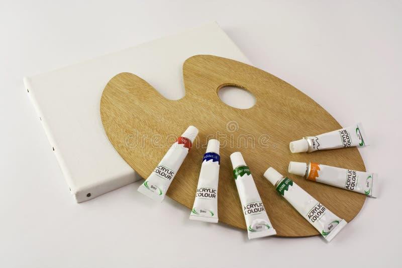 kolor brezentowa paleta obrazy stock
