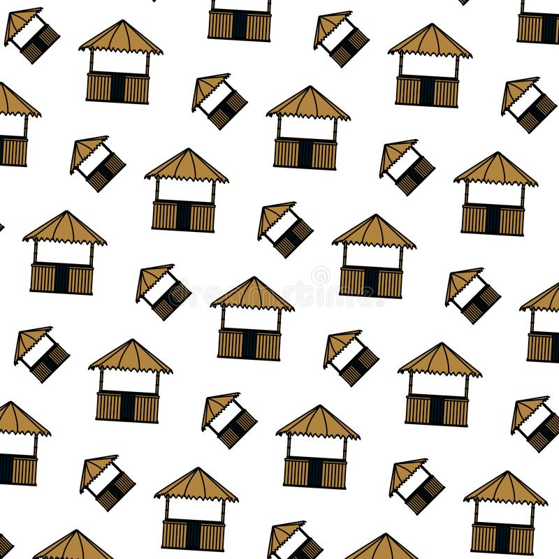 Kolor budy natury architektury słomiany tło royalty ilustracja