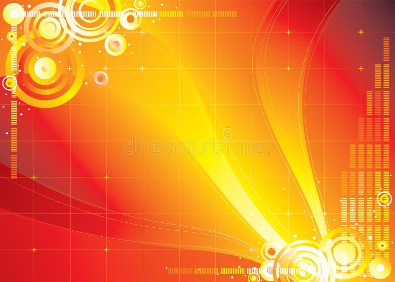kolor czerwony nieskończoności ilustracja wektor