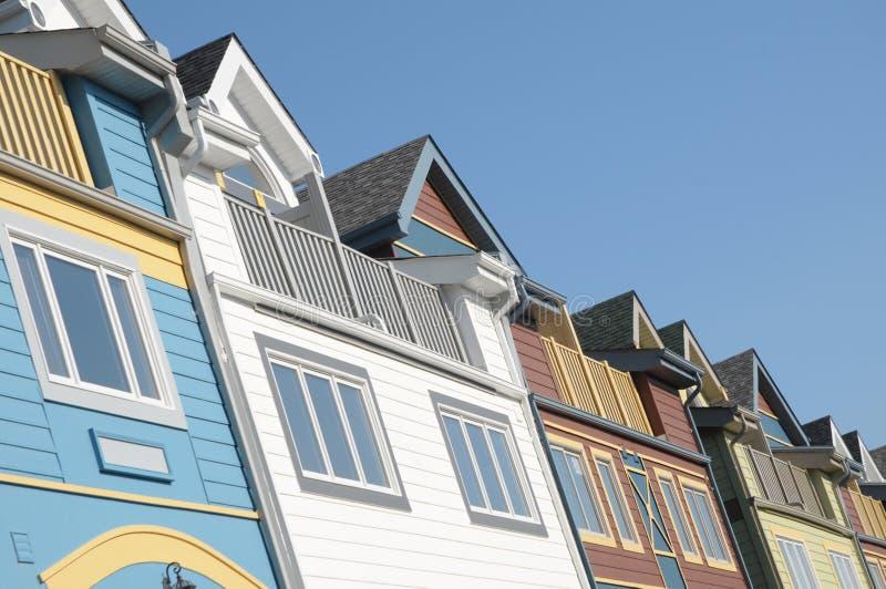 kolor domy. obrazy stock