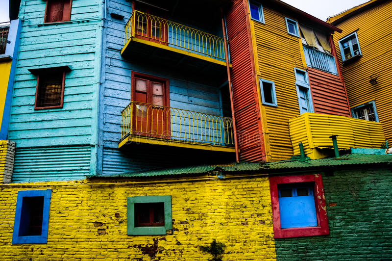kolor domy obrazy royalty free