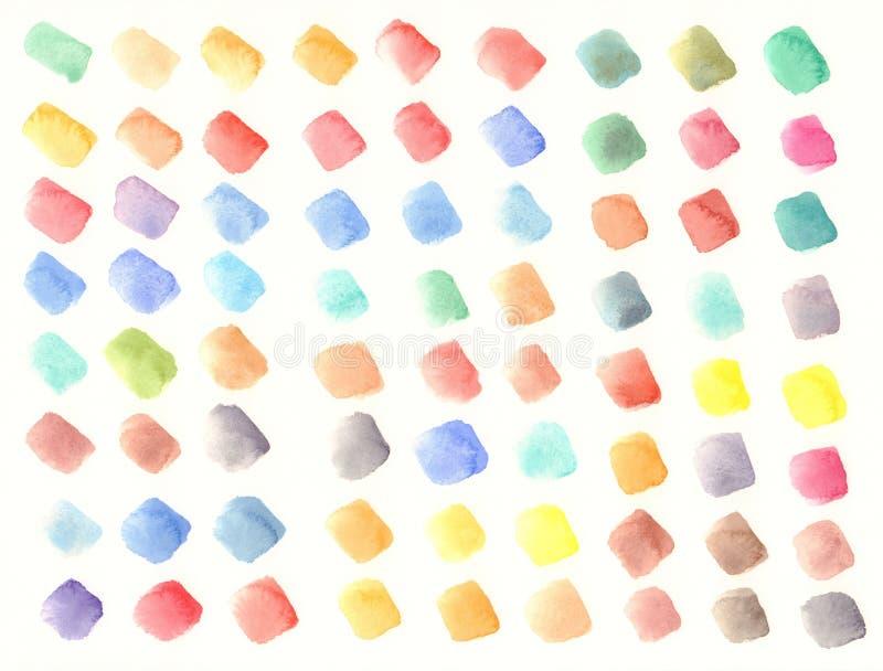 Kolor dostrzega akwareli tło ilustracja wektor