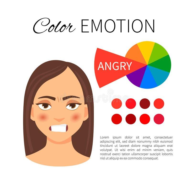 Kolor emocja royalty ilustracja