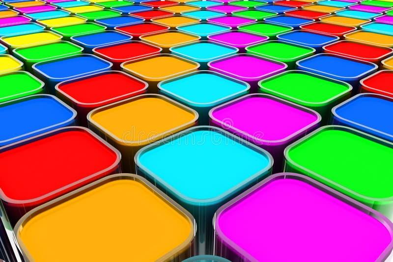 Kolor farby puszki ilustracji