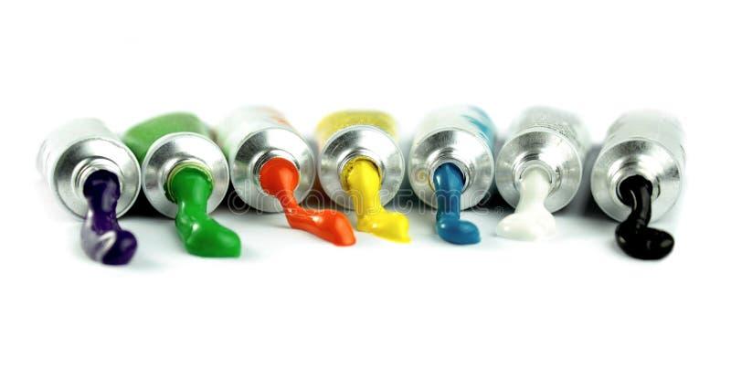 Kolor farby tubki zdjęcie royalty free
