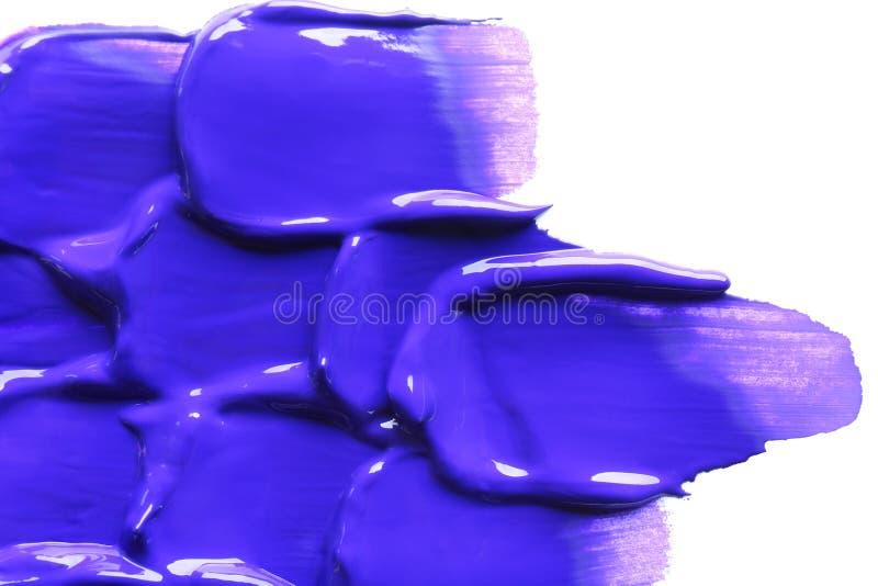 Kolor farby wazeliniarscy brushstrokes na białym tle zdjęcia royalty free