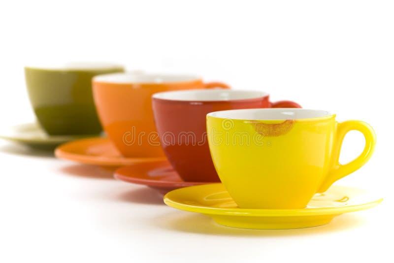 Kolor filiżanki obrazy stock