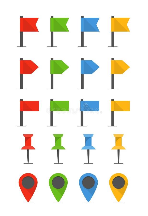 Kolor flaga i szpilki ilustracji