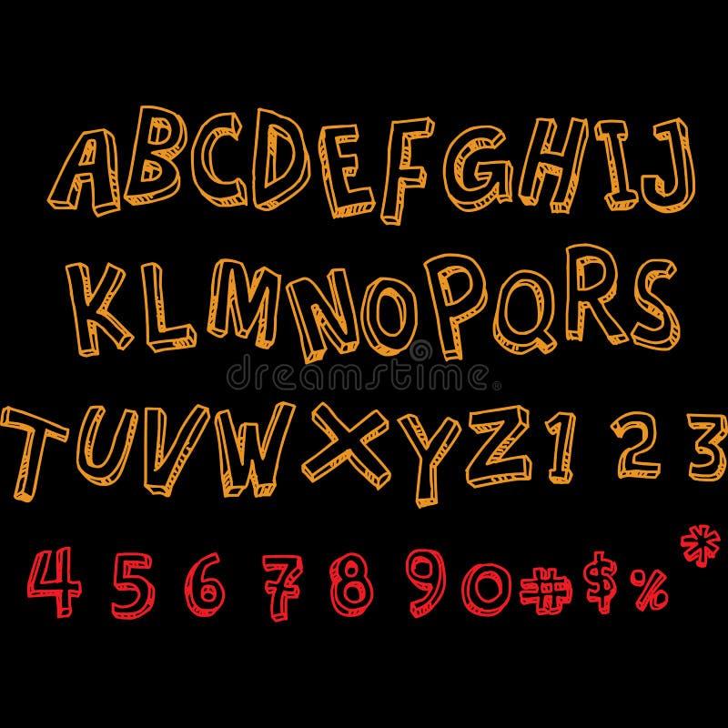 Kolor folujący abecadłowy typografia projekt ilustracja wektor