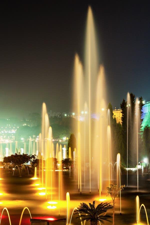 Kolor fontanny zdjęcie stock
