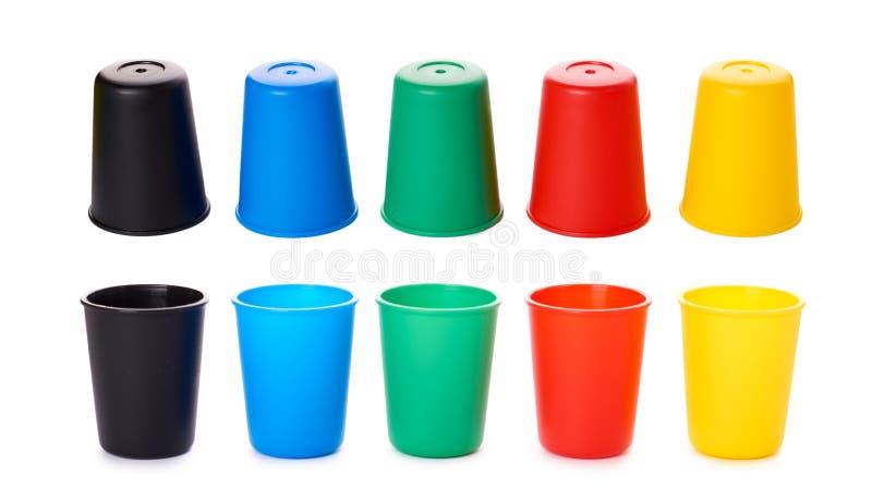 Kolor forsuje dla gry lub napojów odizolowywających na białym tle obrazy royalty free