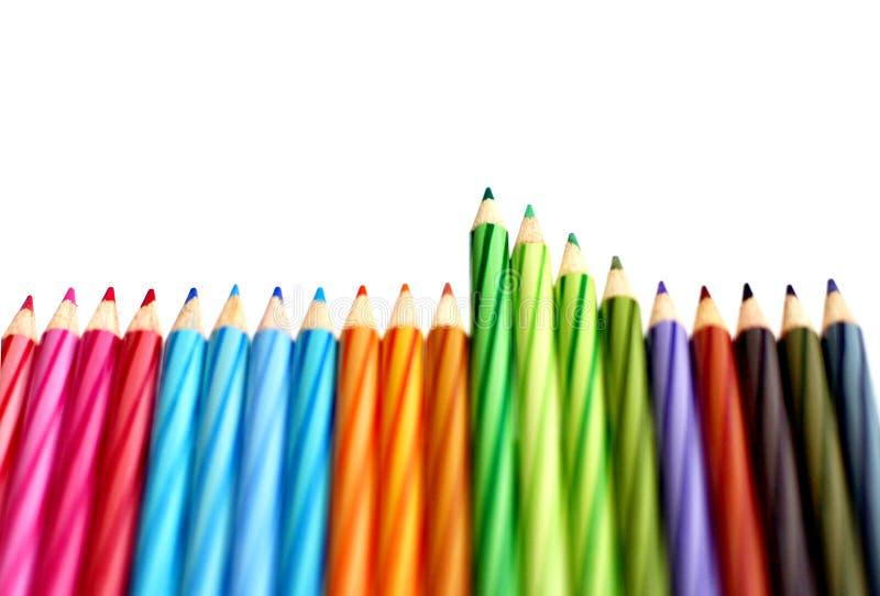 kolor granicznych ołówki fotografia stock