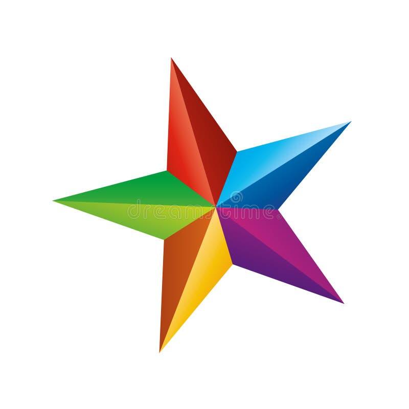 kolor gwiazda royalty ilustracja