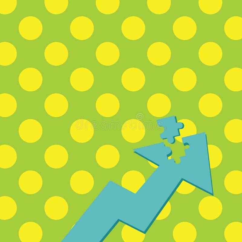 Kolor ilustracji Strzałkowaty Wskazywać Oddolny z Oddzielną częścią jak wyrzynarki łamigłówki płytki kawałek Kreatywnie tła pojęc ilustracji