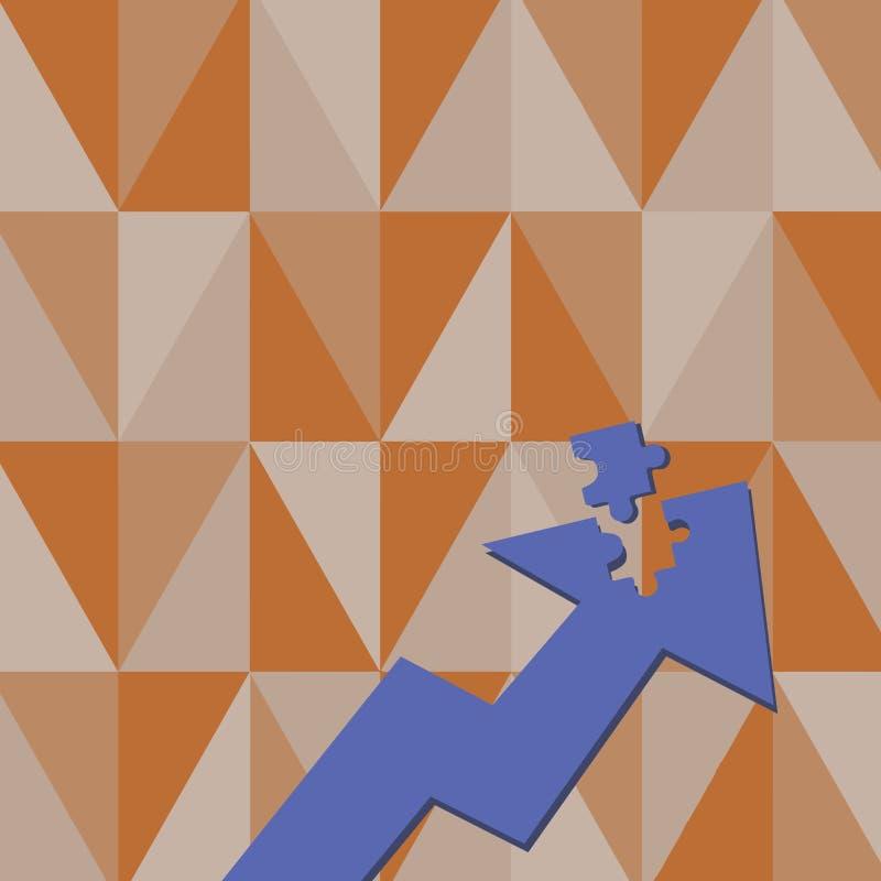 Kolor ilustracji Strzałkowaty Wskazywać Oddolny z Oddzielną częścią jak wyrzynarki łamigłówki płytki kawałek Kreatywnie tła pojęc ilustracja wektor