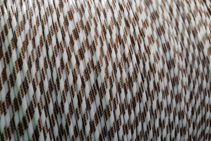 Kolor izolujący drut fotografia stock