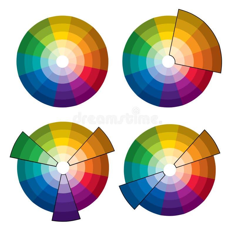 kolor koła ilustracja wektor