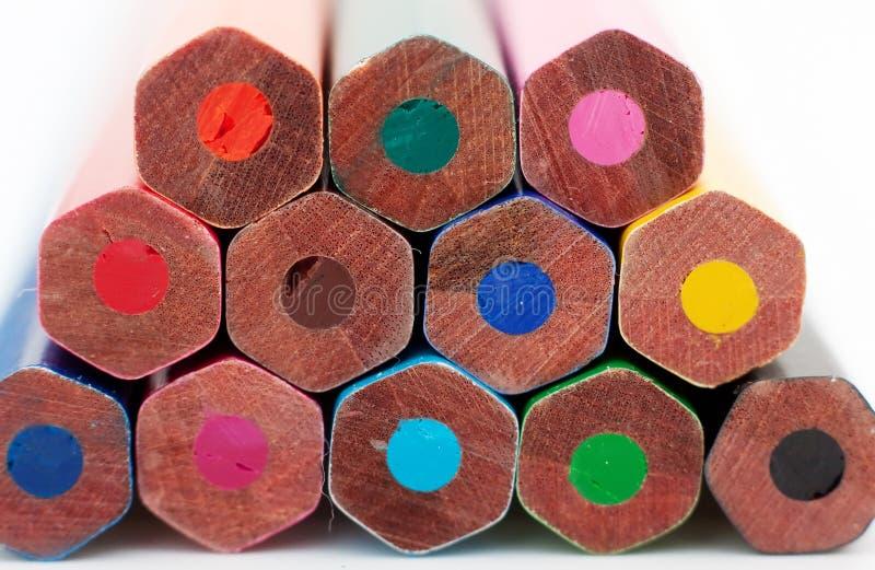 kolor kończyć ołówki obraz stock