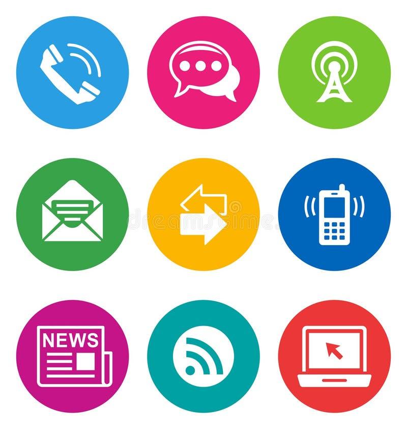 Kolor komunikaci ikony royalty ilustracja