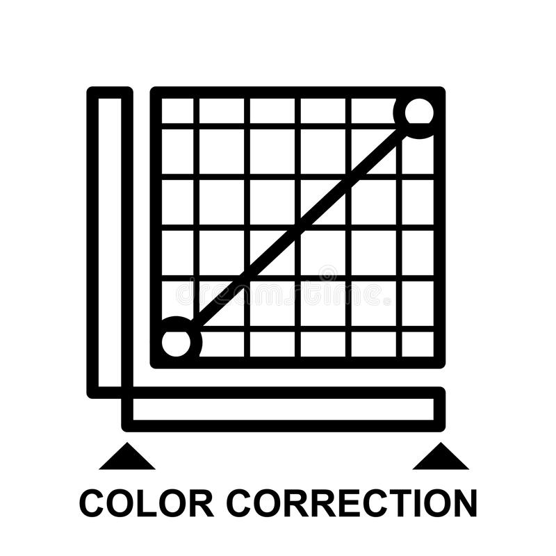 Kolor korekci ikona royalty ilustracja