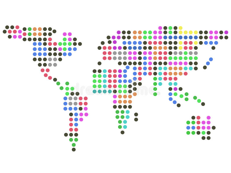Kolor kropek ziemia ilustracja wektor