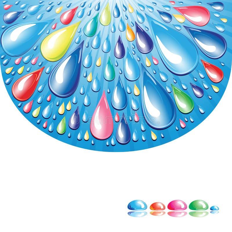 Download Kolor krople ilustracja wektor. Ilustracja złożonej z feston - 13340329
