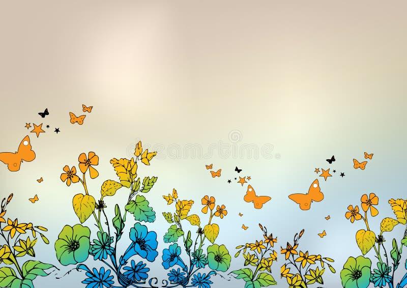 kolor kwiecisty royalty ilustracja