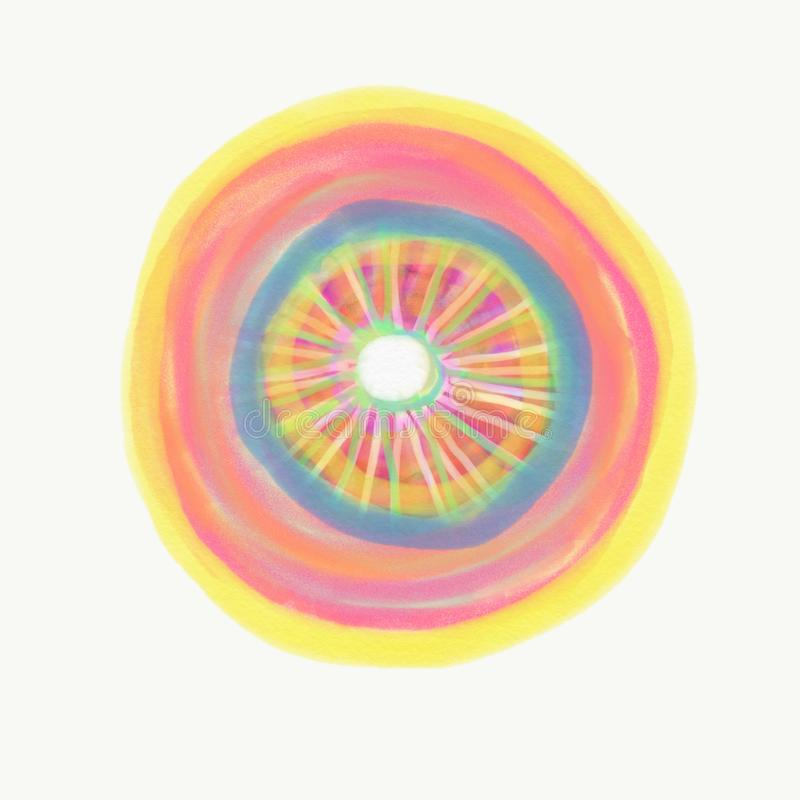 Kolor malujący z akwarelą zdjęcia royalty free