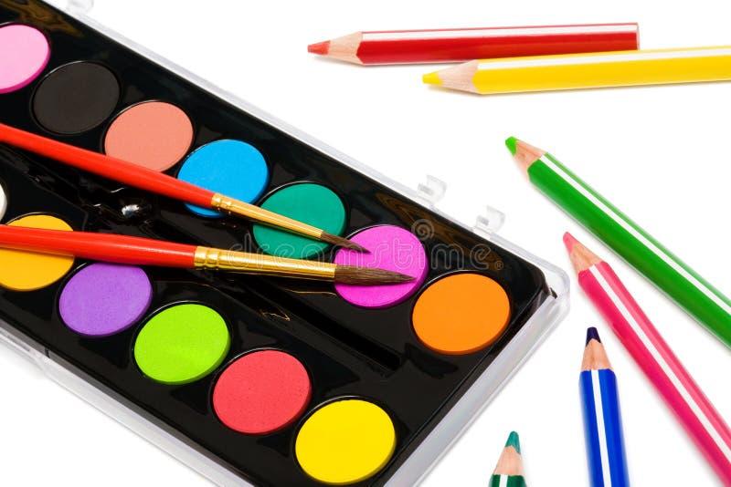 kolor maluje ołówki zdjęcie royalty free