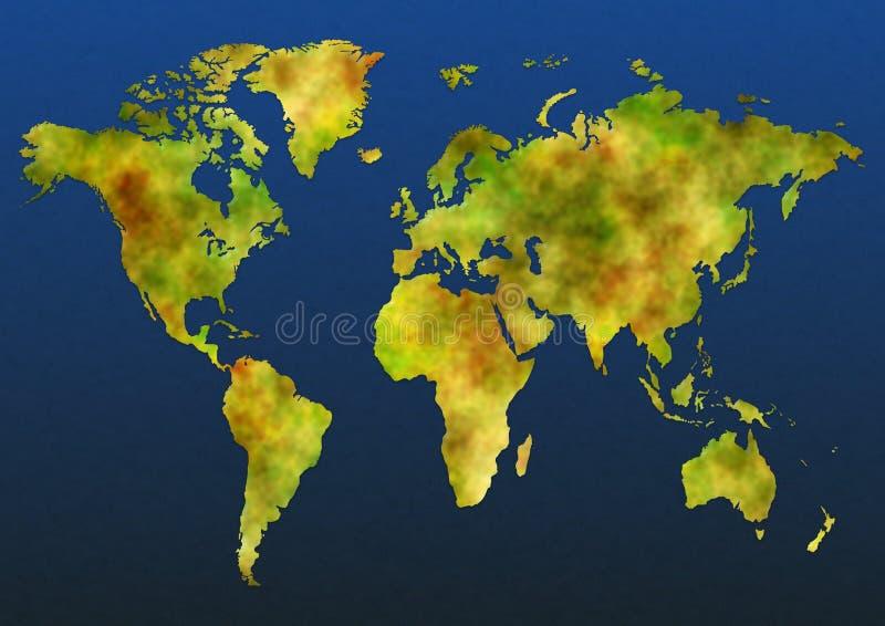 kolor mapa royalty ilustracja