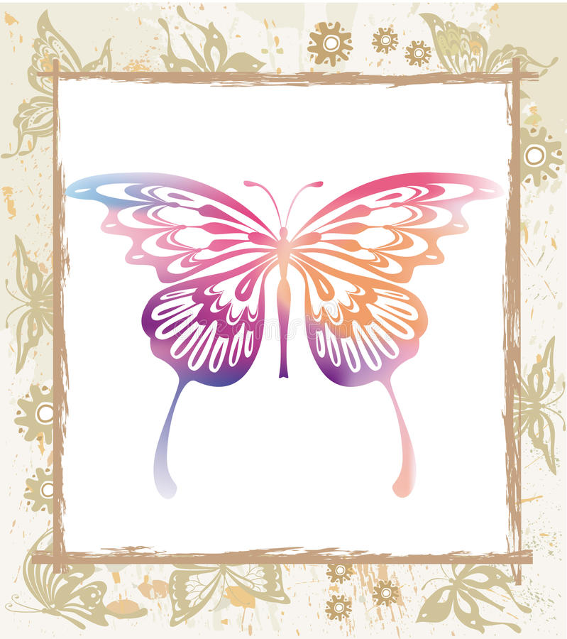 kolor motylia rama ilustracji